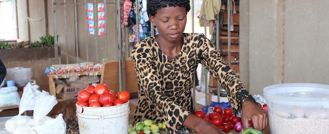 A participant of EDC's USAID-funded Akazi Kanoze program