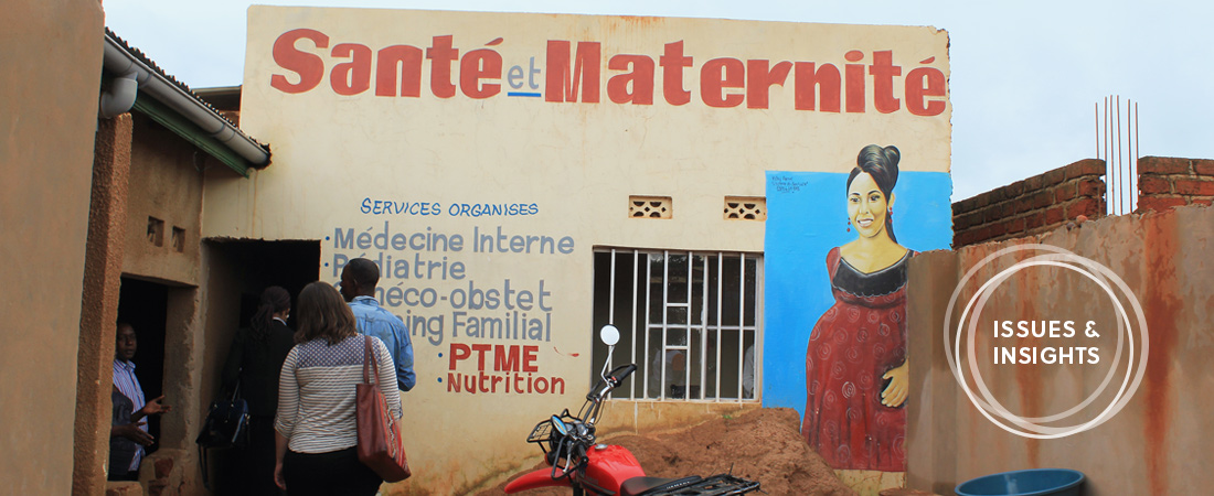 A health clinic in the DRC