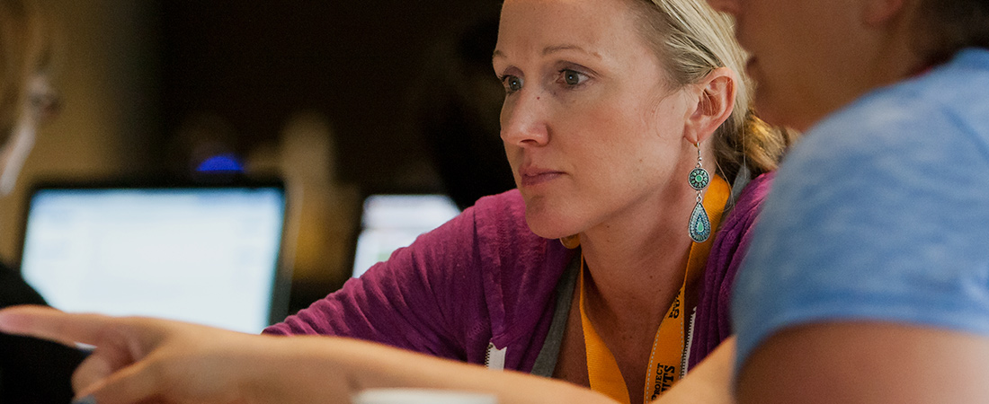 Teacher taking part in a professional development training
