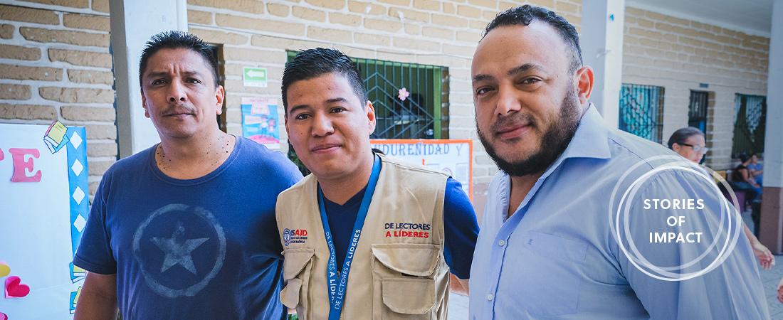 A photo of Walter and Juan Carlos with Ricardo Soriano