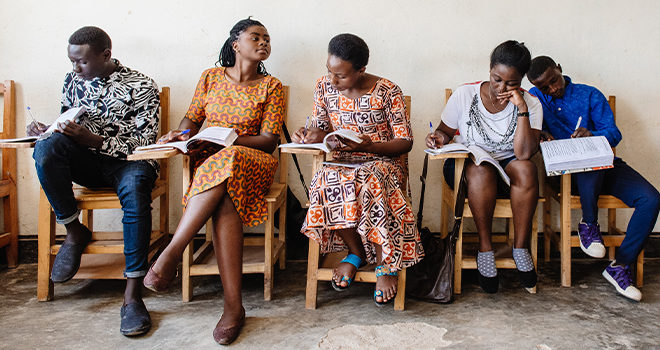 An image from EDC's work in Rwanda representing equity