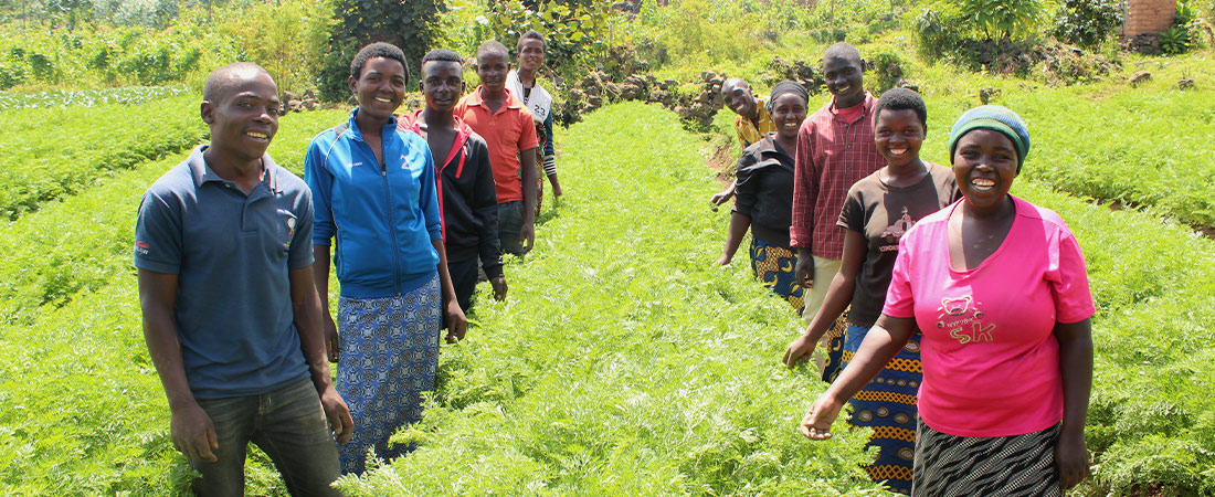 A photo from Rwanda representing In Rwanda, Youth in Agribusinesses Cope with Lockdown