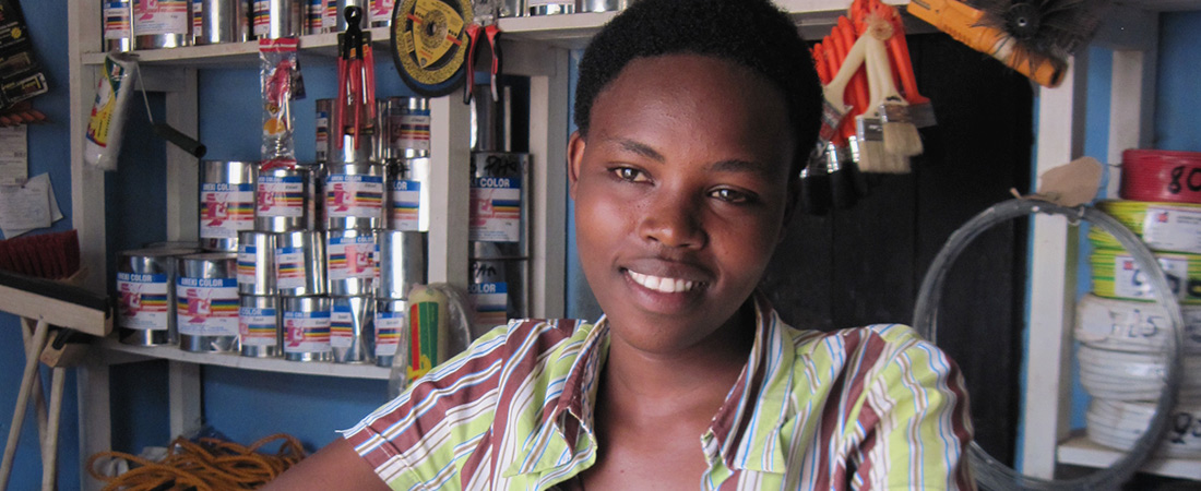 A young woman in Liberia