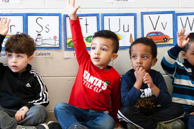 A photo of a preschool classroom representing EDC Talks: Examining Research on Universal Prekindergarten