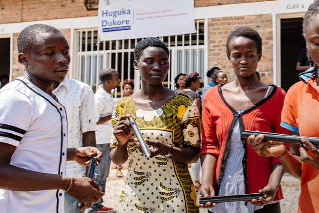 A photo of youths in Rwanda