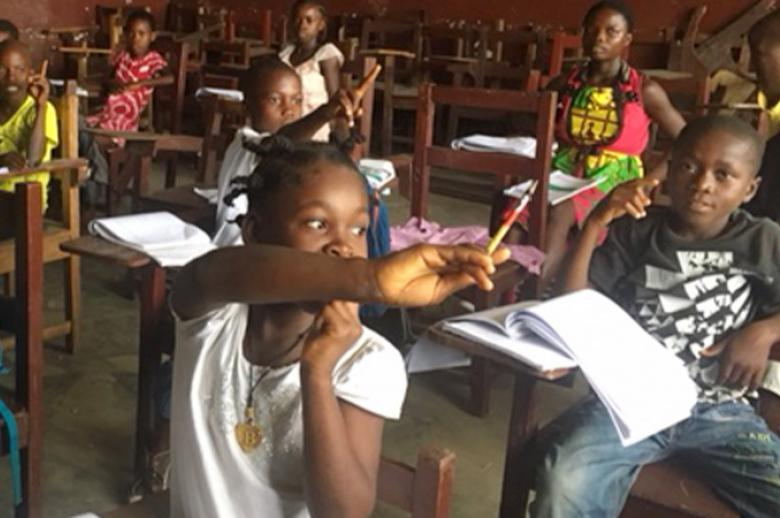A photo of students in Liberia