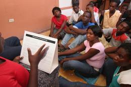 Participants in EDC's project in Haiti