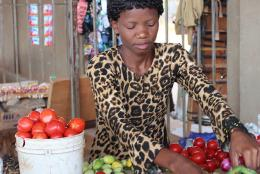 A participant of EDC's USAID-funded Akazi Kanoze program