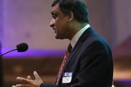A photo of Anant Agarwal, CEO of edX,
