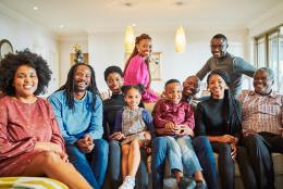 A photo of a family representing Addressing Mental Health in the Black Community
