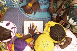 A photo of students in Mali