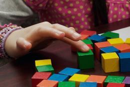 Photo of a child using blocks