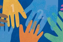 An illustration of hands representing Three Steps towards Healing and Help-Seeking on Mental Health Action Day