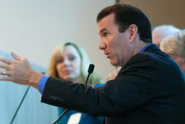 Representative James Cantwell joined prevention specialists and public health experts during a recent meeting at EDC.