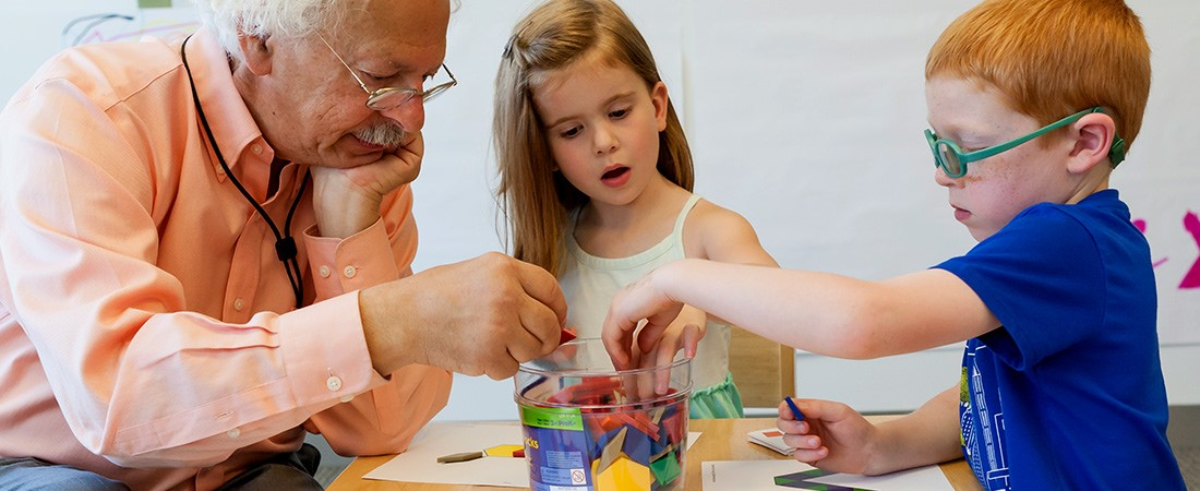 """Playing math games with children can help spark important mathematical ideas,"" says Paul Goldenberg."